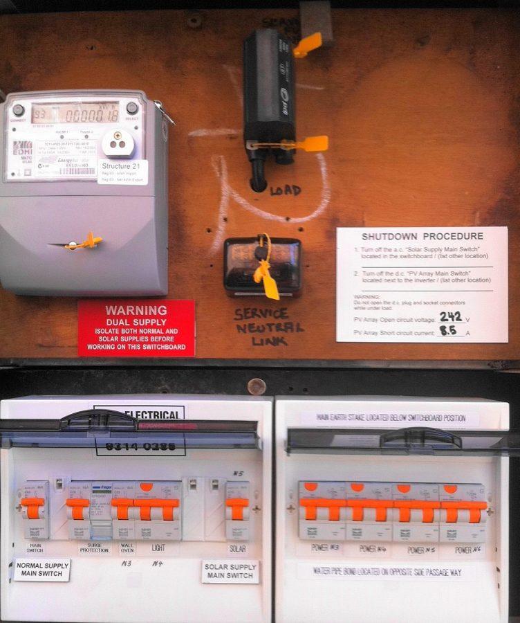 Solar net metering unit