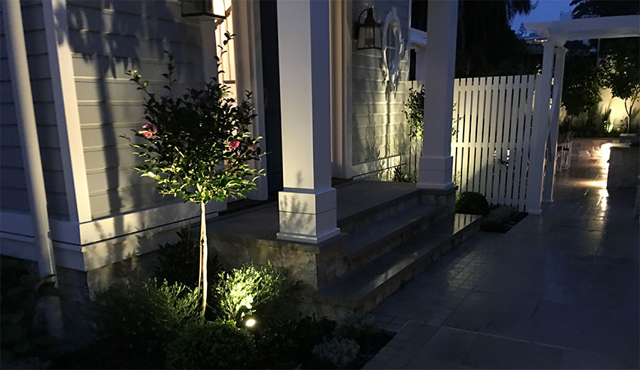 garden lighting design work